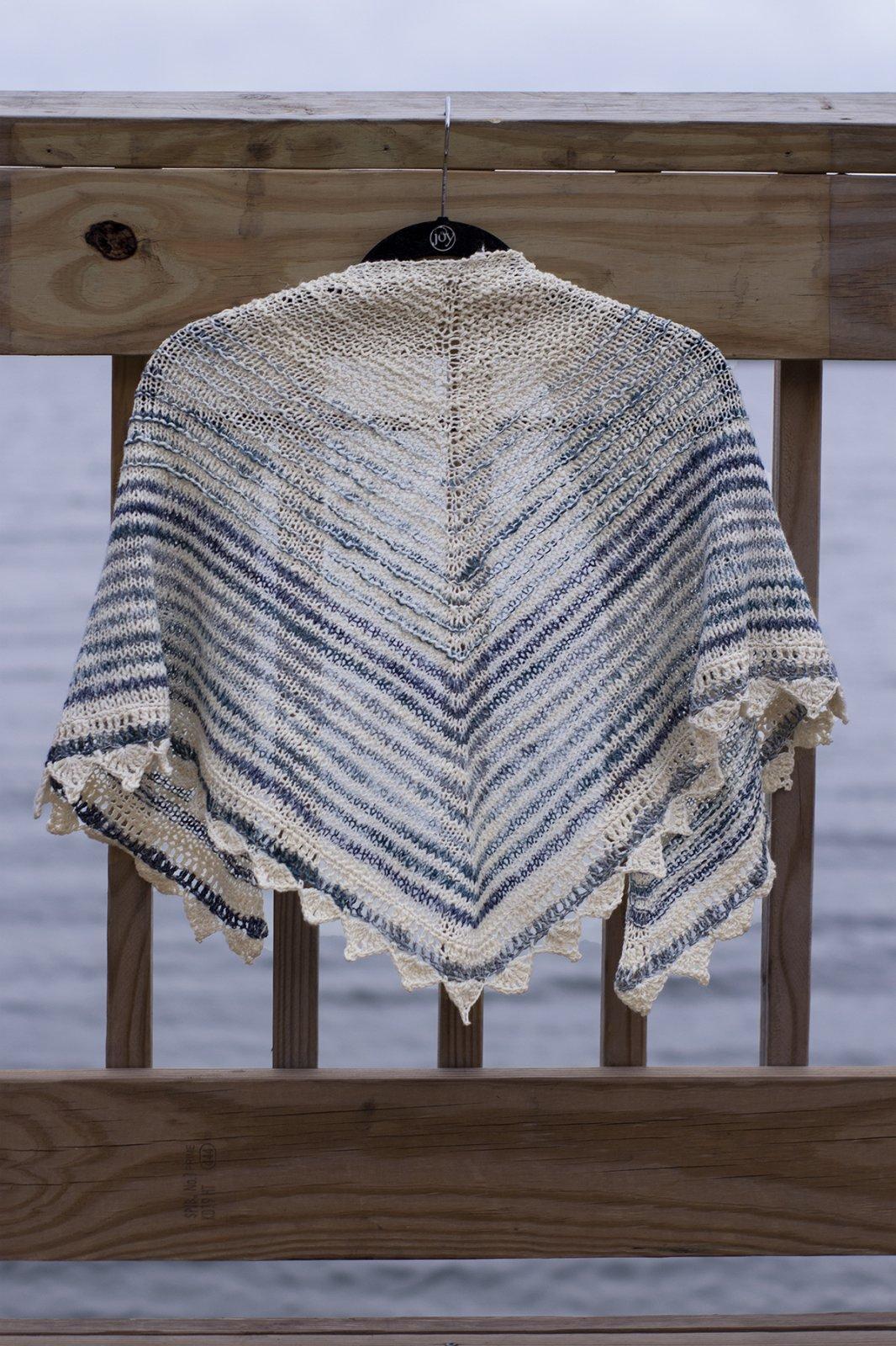 Saltwater Shawl Kit from Universal Yarns