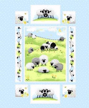 Lewe the Ewe by Susybee Fabrics Panel SB20042-710