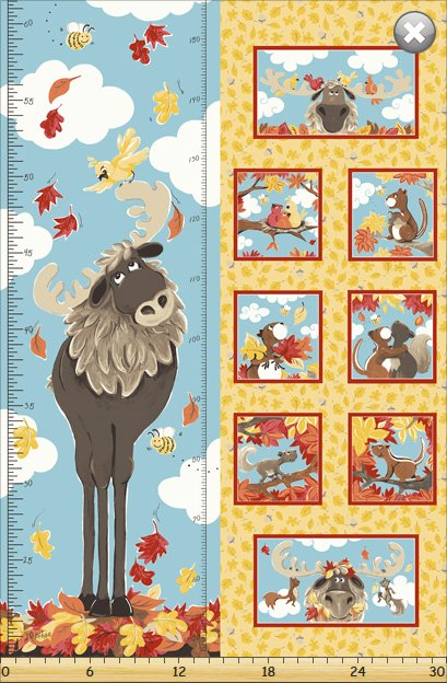 Bruce The Moose Growth Chart by Susybee #SB20251-325