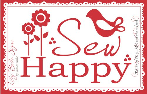 Sew Happy Wall Decal