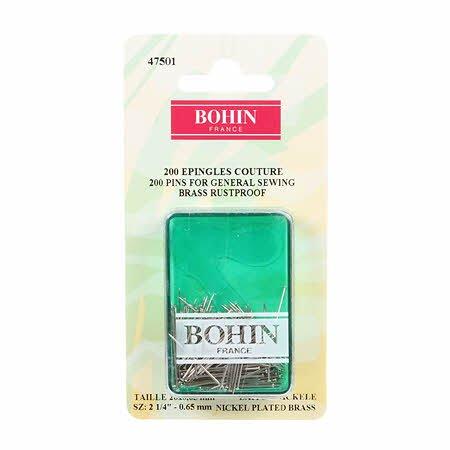 Bohin Pins for General Sewing - 200Ct