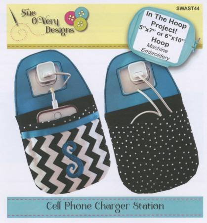 Embroidery Club November 2016- In the Hoop Phone Charging Station