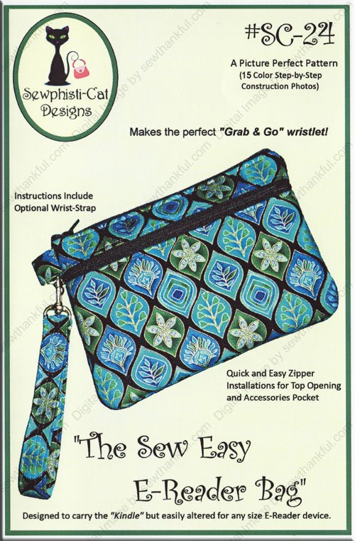 The Sew Easy E-Reader Bag from Sewphisti-Cat Designs