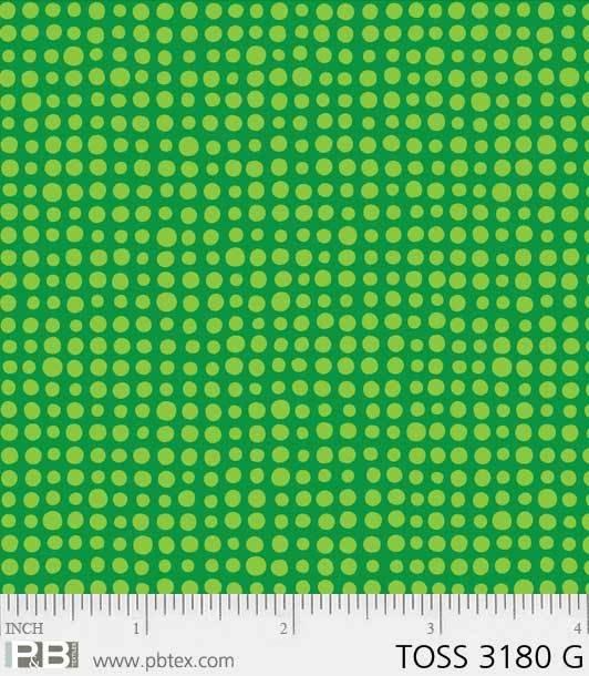 Toss Of Texture by Susan Rooney #3180 G Green dot