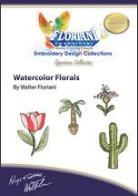 Watercolor Florals Embroidery Designs