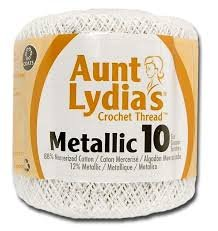 Aunt Lydia's Crochet Thread Metallic 10 - 100 yards