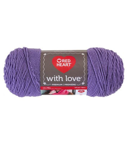 Red Heart with Love 1704 Lilac 1538