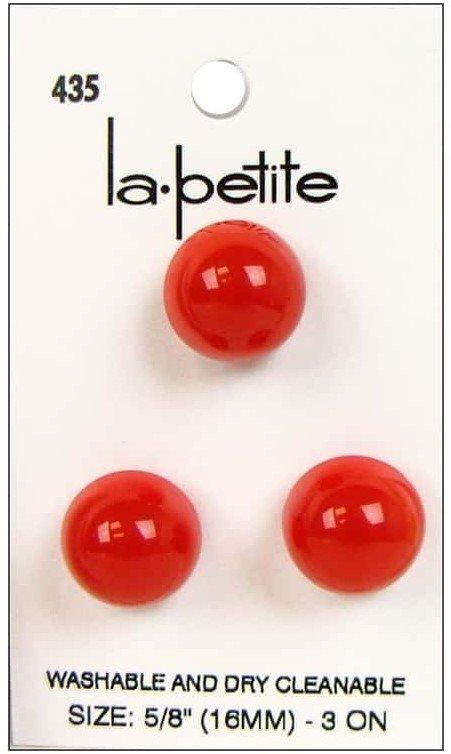 1/2 Ball Red Plastic Shank 435 5/8