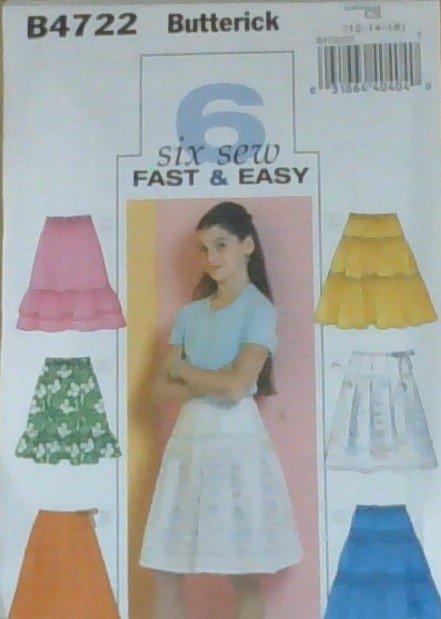 Girls Skirts B4722 CS/12-16
