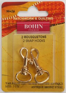 90436 Snap Hooks 1 3/8 Gilt - pack of 2
