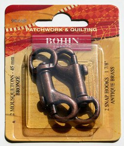 90440 Snap Hooks 1 3/4 Bronze - pack of 2