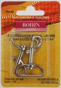90445 Snap Hooks - Special for Thin Straps - Silver - pack of 2