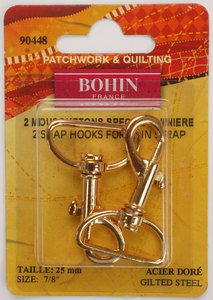 90448 Snap Hooks - Special for Thin Straps - Gilt - pack of 2