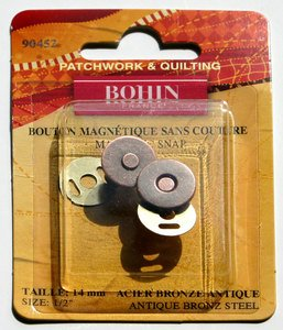 90452 Magnetic Snap 9/16 Bronze