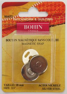90453 Magnetic Snap 3/4 Silver