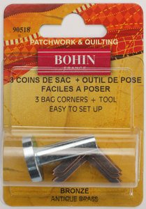 90518 Standard Corner - Antique Brass  - pack of 3 with Tool