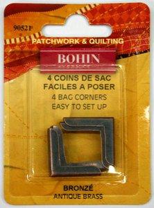 90521 Standard Corner - Antique Brass - pack of 4