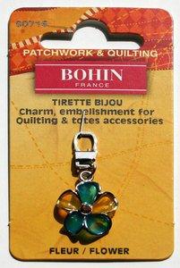 90716 Flower - fancy zipper pull