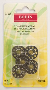 91342 Steel Bobbins - Class 15 - pack of 5