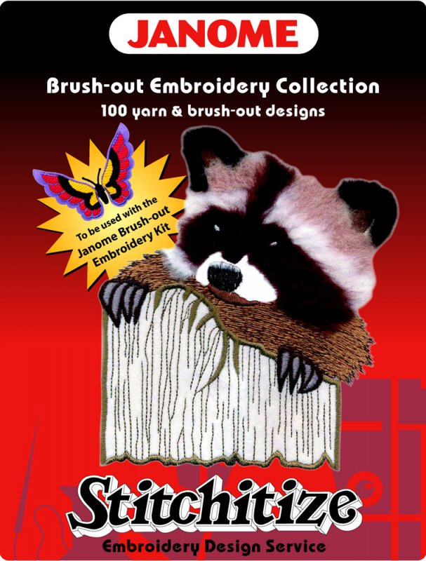 Janome Brush-Out Yarn Embroidery
