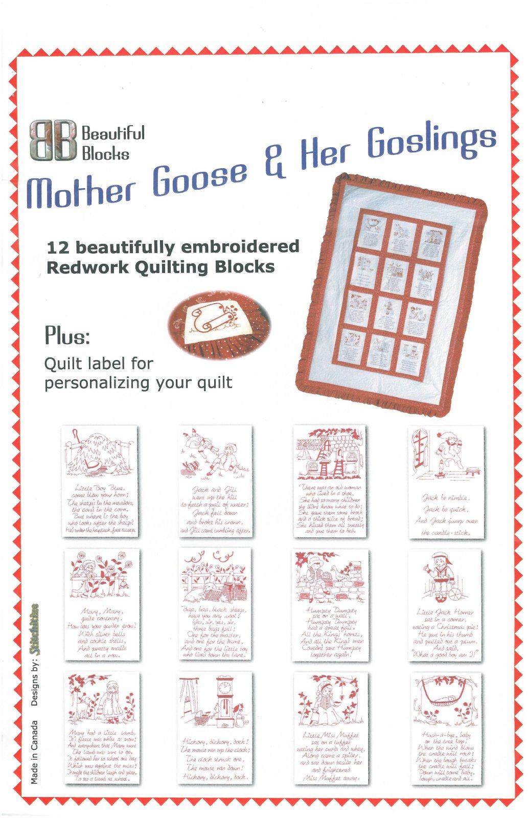 Mother Goose - Redwork