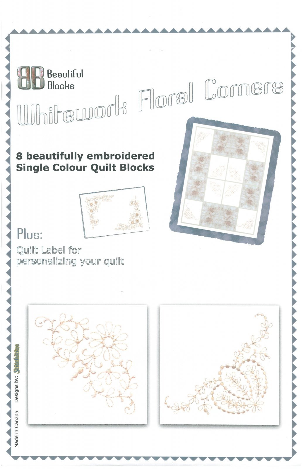 Whitework Floral Corners