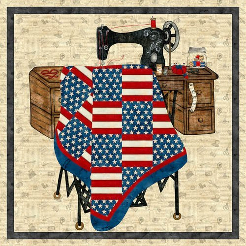 Ivory Sew American panel 36 x 43 (P10600)