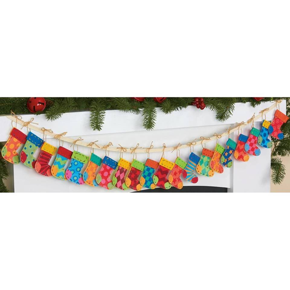 Advent Stocking Garland Kit