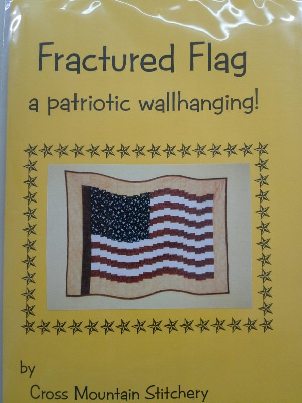Fractured Flag Patriotic Wall Hanging Pattern