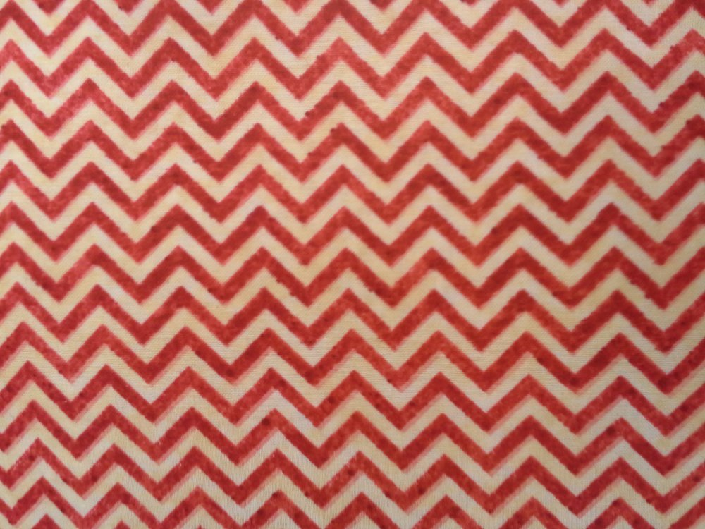 Heart Strings (Red/Cream) Chevron (F3310)