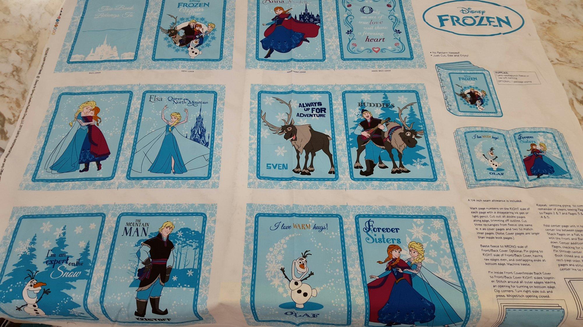 Disney Frozen Anna's Friends Book Panel
