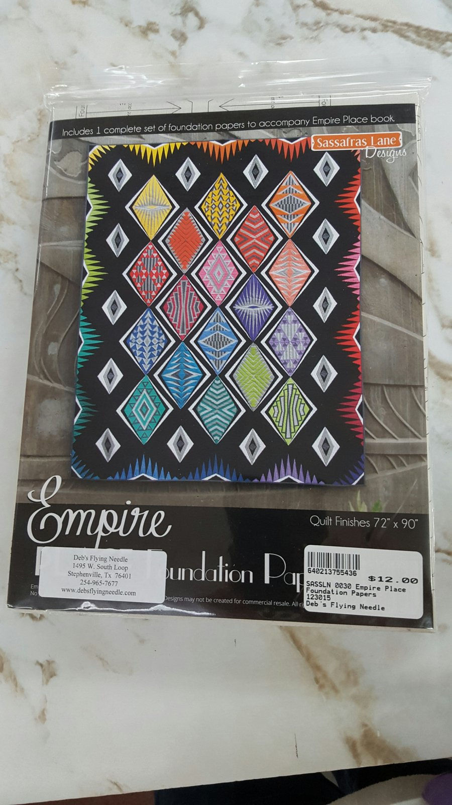 Empire Place Foudation Paper Pattern