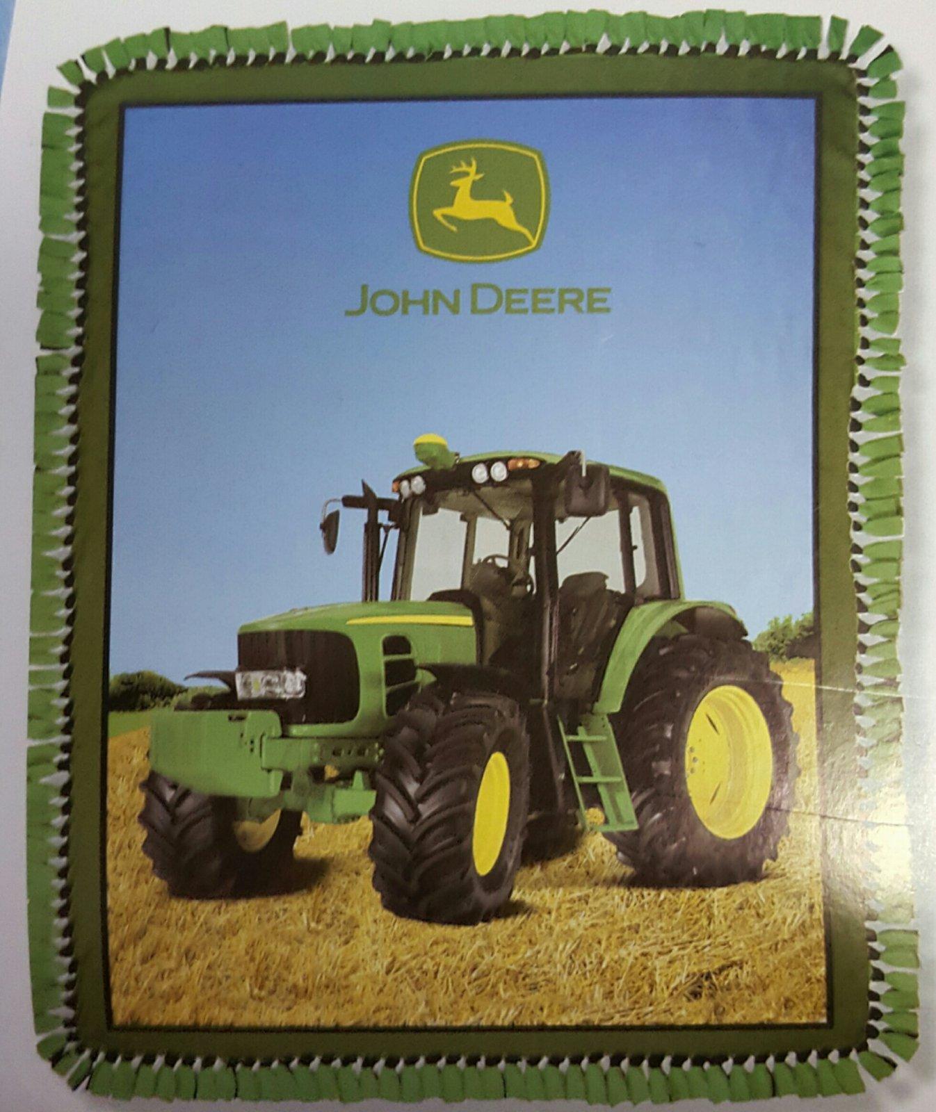 No Sew John Deere Fleece Throw Kit