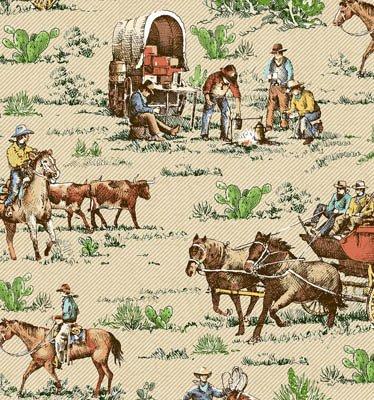 Riding Westward Cowboys (W4959)