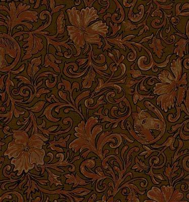 Riding Westward Brown Flowers/Leaves (F4963)