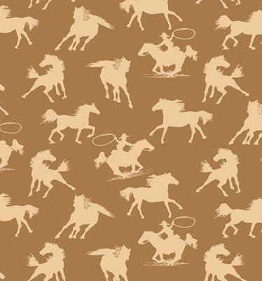 Riding Westward Horses (Brown) (W4964)