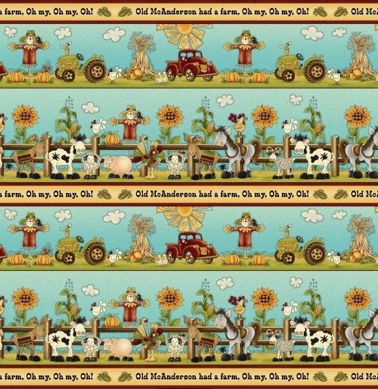 McAnderson's Farm Cream/Multi Border Stripe (F4677)