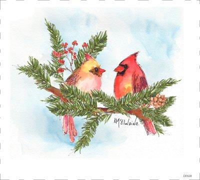 Christmas Cardinals (DE028)