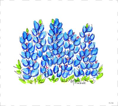 Bluebonnets (FL136)