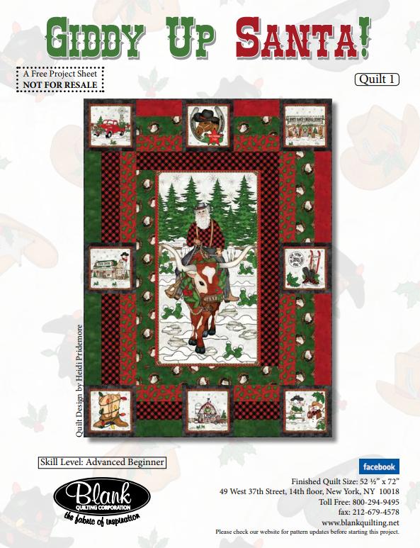 Giddy Up Santa Quilt Kit