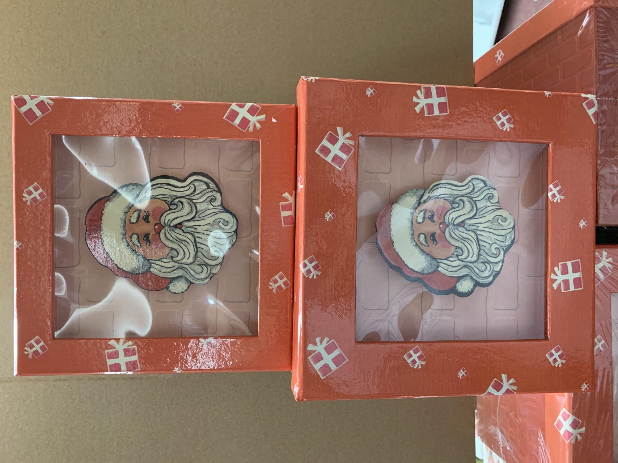 Santa Shadow Box - 2 pc set