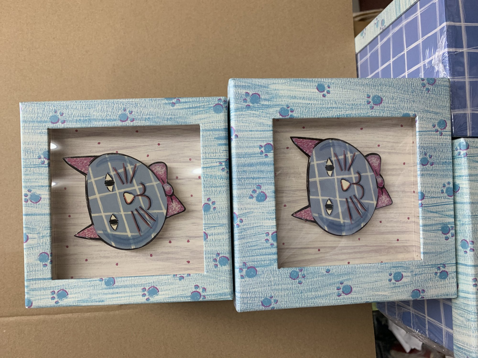 Kitty Shadow Box - 2 pc
