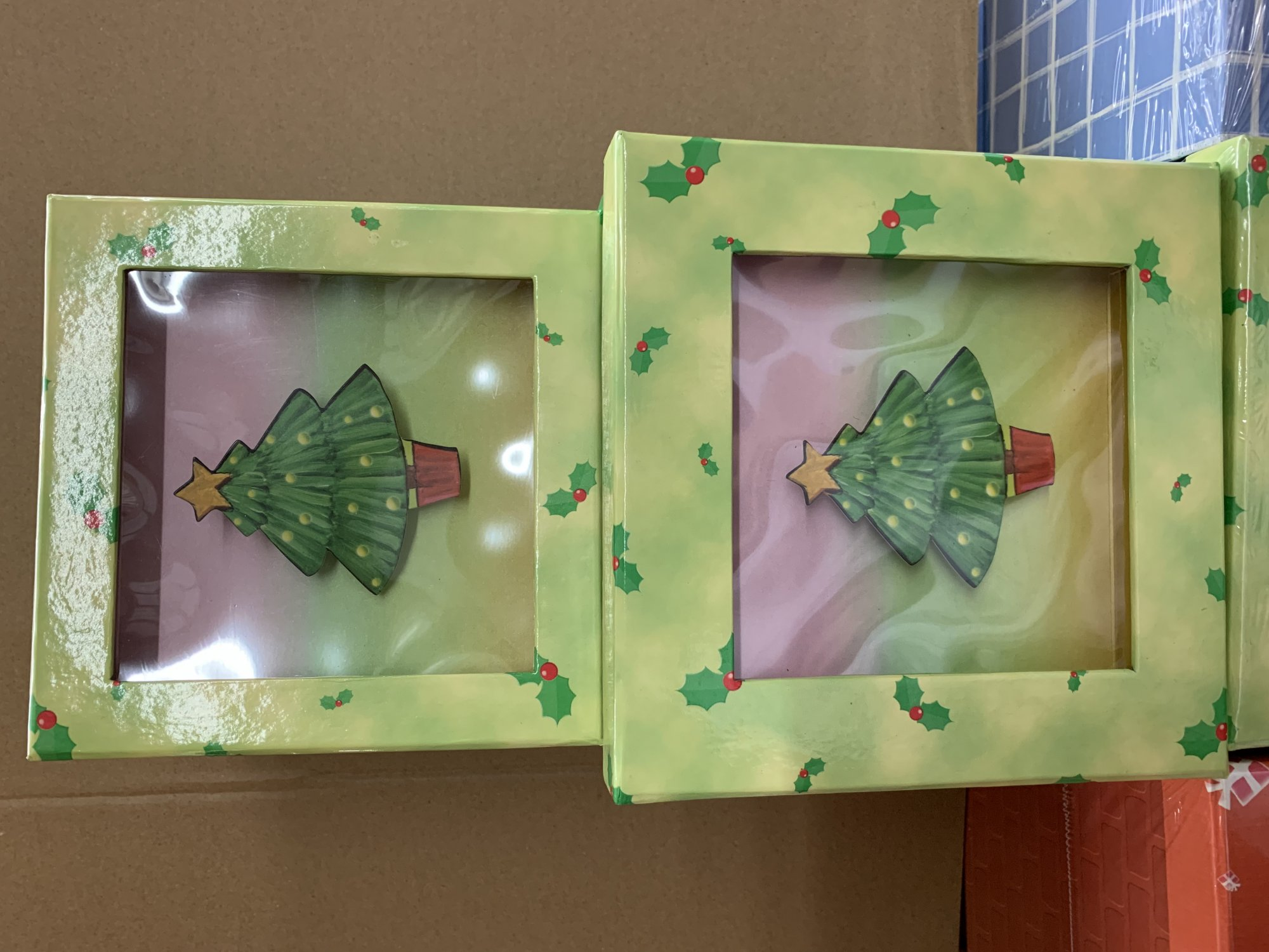 Christmas Tree Shadow Box - 2 pc