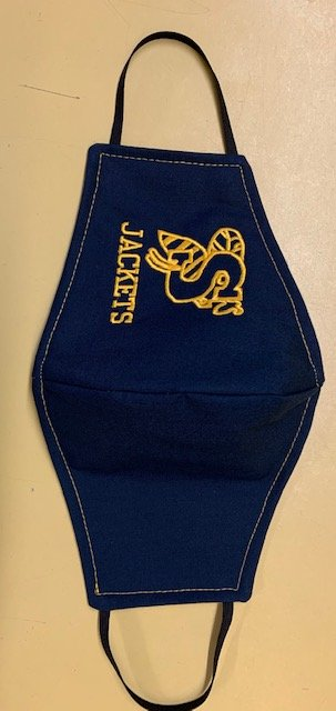 Embroidered Stephenville Yellowjacket Face Mask