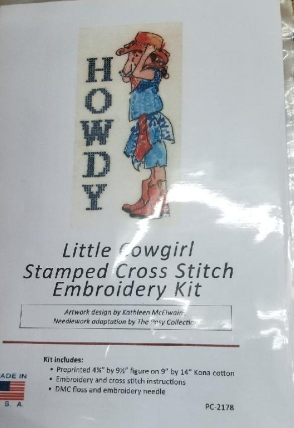 HOWDY Little Cowgirl Cross Stitch