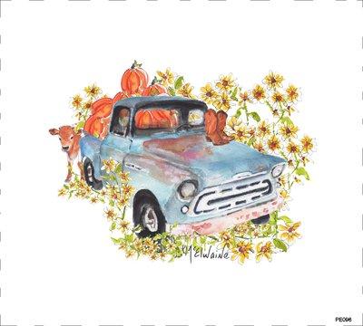 Pumpkin Holiday Truck (PE096)