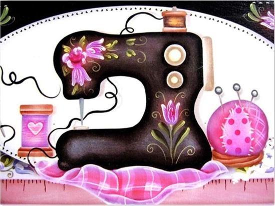 Diamond Kit - Sewing Machine Kit Pink