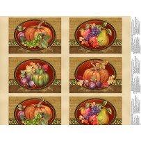 Thankful Harvest Placemats Panel (F4460)