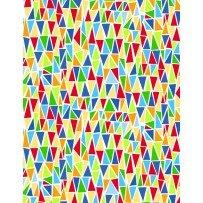 Dandy Dinos Triangles (White/Multi) (F4495)