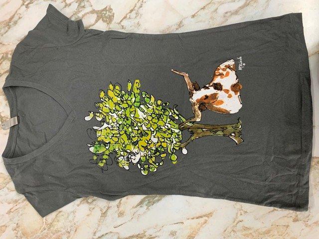 Longhorn under tree Skinny t-shirt